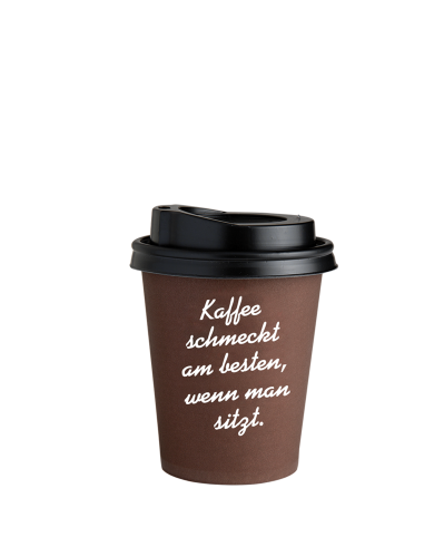 Coffee to Go Becher Braun 0,2