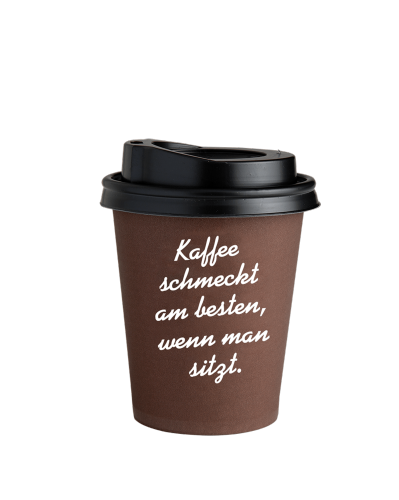 Coffee to Go Becher Braun 0,3