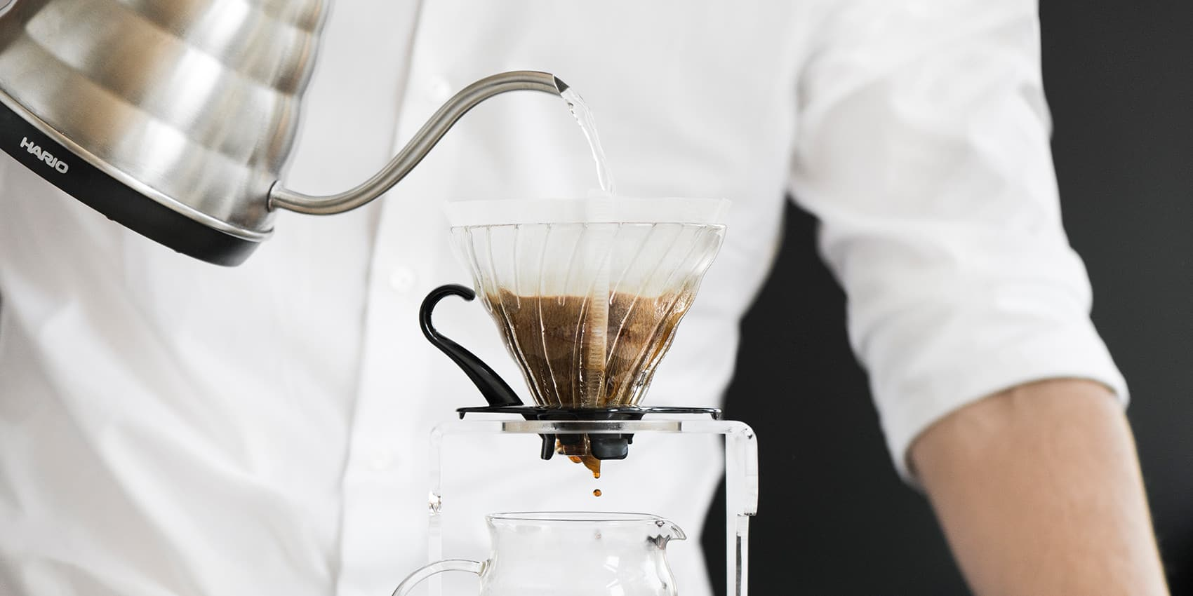 Kaffee aufgießen