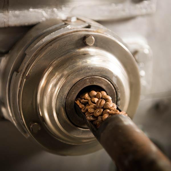 Trommelröstung,Kaffee,Rösten,Bohnen,traditionell,Rohkaffee