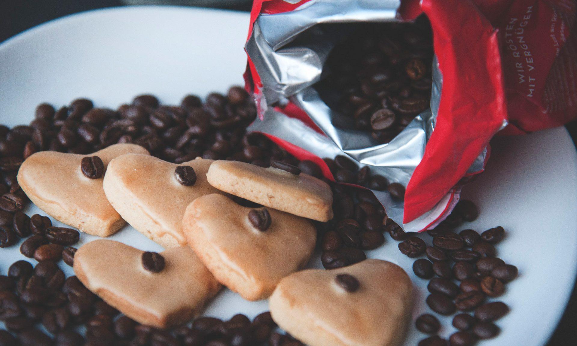 Rezept: Köstlich-süße Kaffeekekse.
