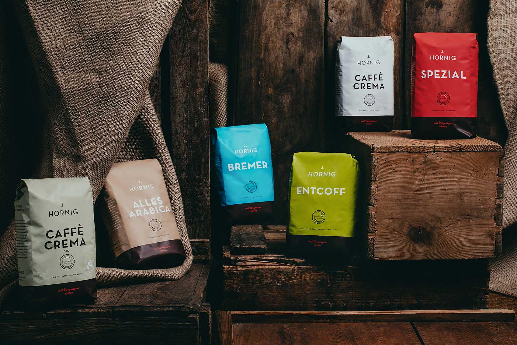 Kaffeeverpackungen Ganze Bohne